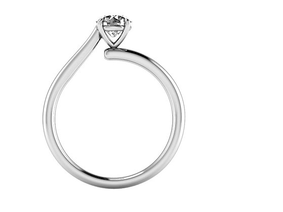 'Adore' Round Brilliant Engagement ring by Bronze