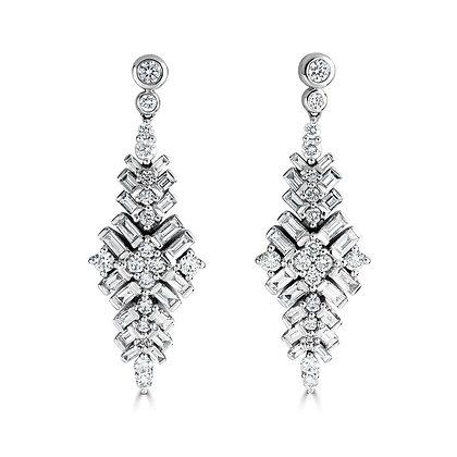 Large 'Jazz' diamond drop earrings