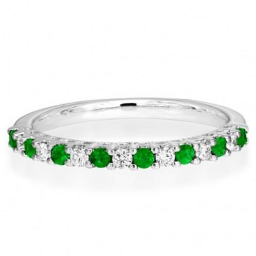 Emerald and Diamond Eternity