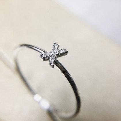 "Diamond ""kiss"" Ring"