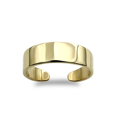 9k gold Toe ring 4 mm wide