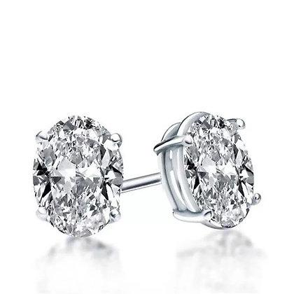 Oval Diamond Earring stud 1.00carat
