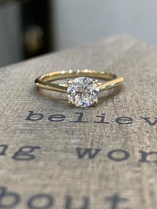 0.90ct Diamond Thin 18k gold Engagement ring
