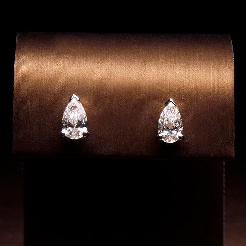 Pear Shaped Diamond Studs