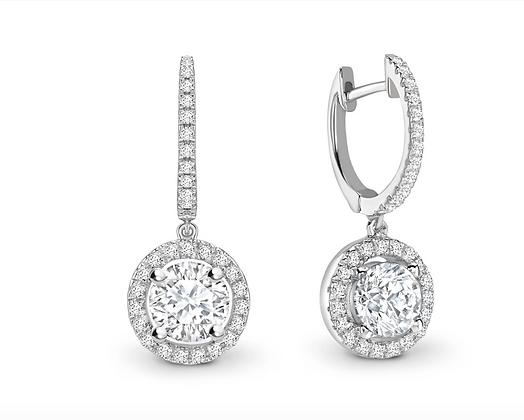 "Round Brilliant diamond ""Hoopalo"" earrings"