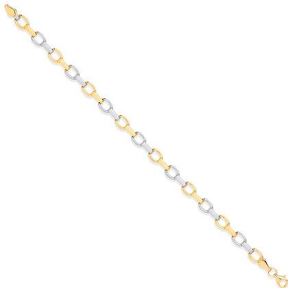 9k two colour link bracelet