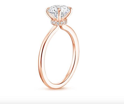 'Saturn' Hidden Halo Round Brilliant Engagement ring