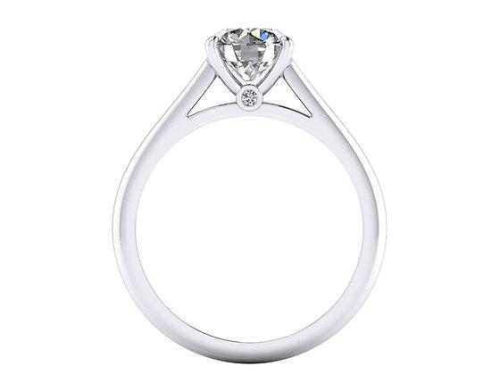 Round Brilliant engagement ring with Hidden Diamond