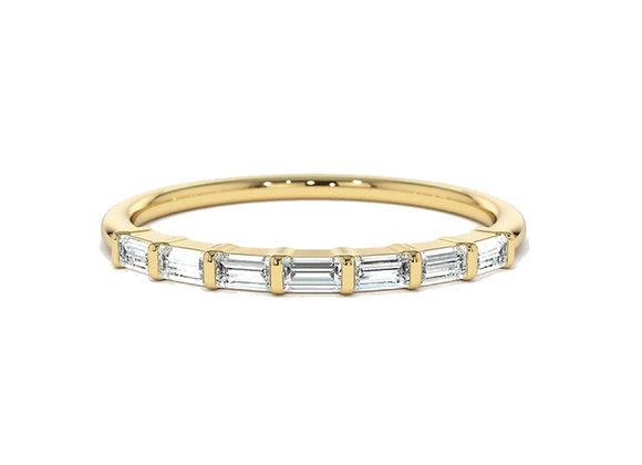 Baguette Cut Diamond wedding/stack ring
