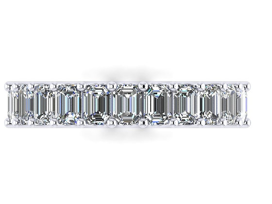 Emerald Cut diamond Full Eternity Ring