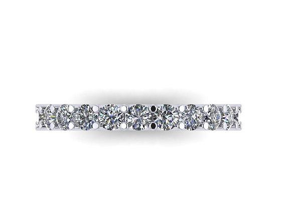2.7mm shared U-claw diamond eternity band