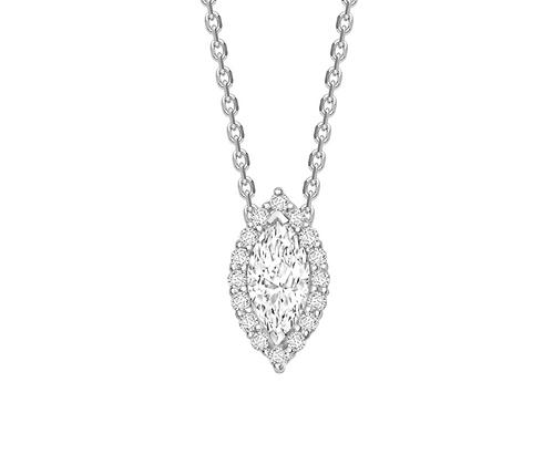 Marquise Diamond 0.30ct Halo pendant