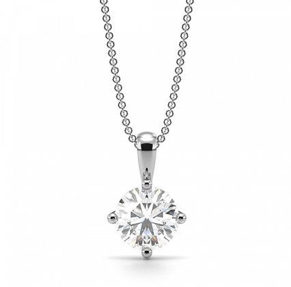 Classic Diamond Solitaire Pendant 0.70ct