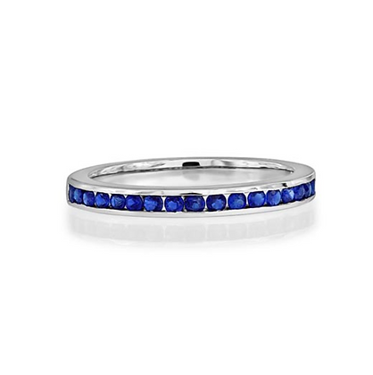 Channel Set Sapphire Eternity Style Ring