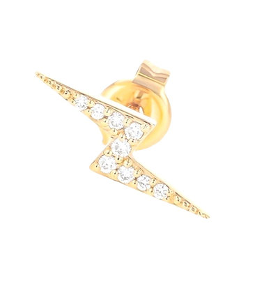 Diamond mini bolt ear stud