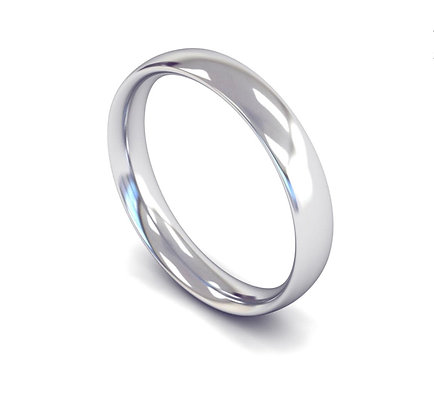 4 mm Plain Traditional court gents band