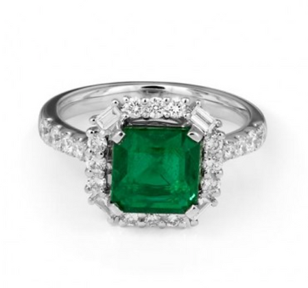 Emerald Cluster Halo Microset Shoulder