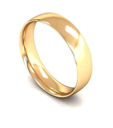 5mm Traditional Court Gents wedding band