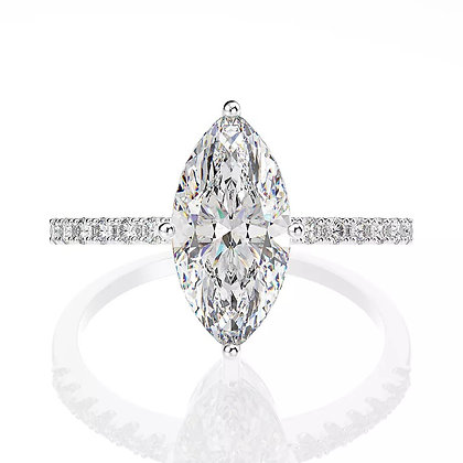 Petite Marquise diamond ring