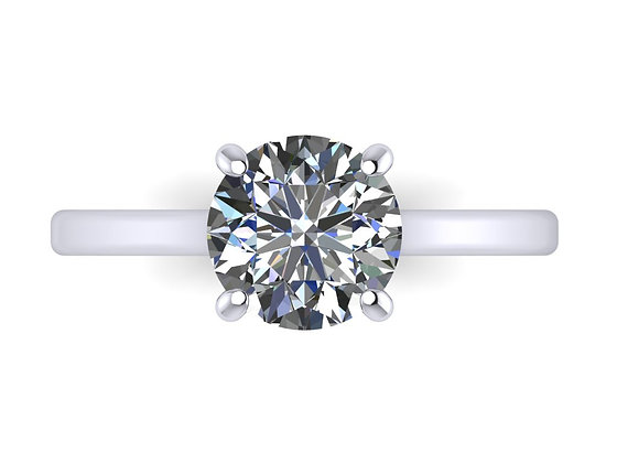 A classic Round Brilliant cut diamond 0.90ct FVS2