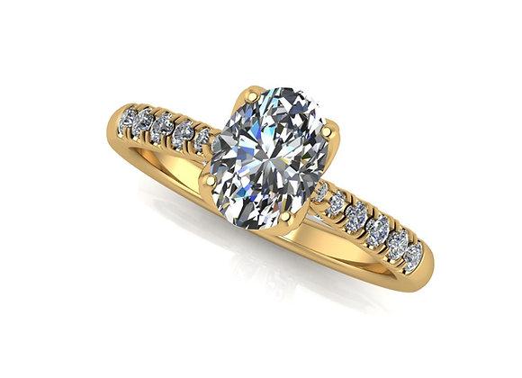 Oval Diamond 18k Yellow gold 0.70ct EVS2