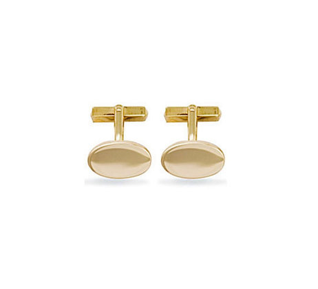 9k Solid gold Oval gents cufflinks