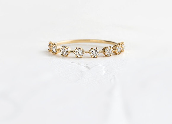Spaced out diamond set band 0.40ct
