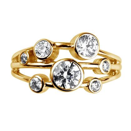 Diamond Rain cluster ring 1.30ct