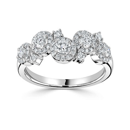 """Dew Drop"" diamond cocktail ring"
