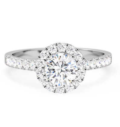 """""""Aura"""" Halo Round Brilliant Engagement ring from £999"""