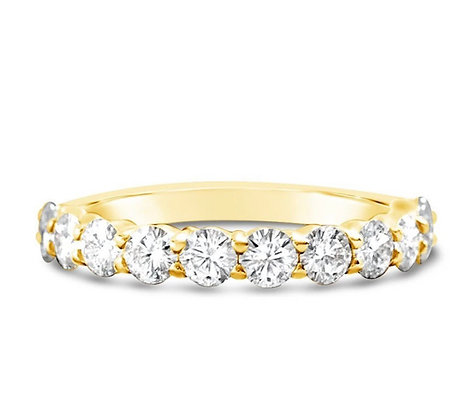 Shared claw 2.8mm Round diamond Eternity ring