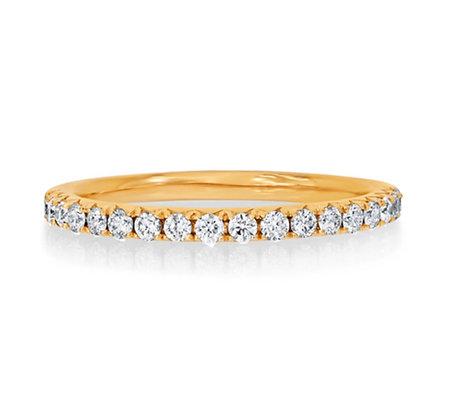 Microset 1.7mm diamond set wedding band