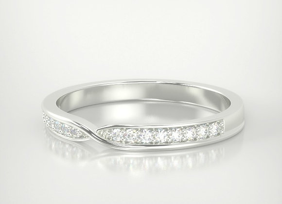 Twisted centre Diamond set band