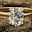 Thumbnail: Straight thin Oval Diamond solitaire ring on curved band
