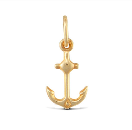9k Gold Anchor charm pendant