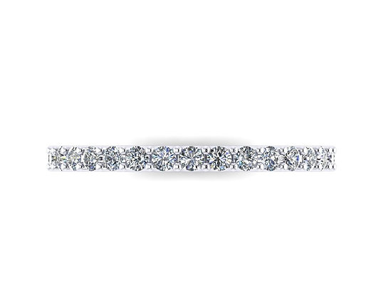 2mm Shared Claw Diamond Half Eternity Band
