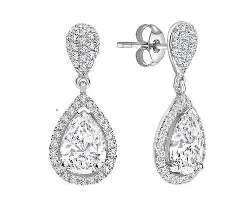Pear shape Diamond Drop Earrings 1.40carat