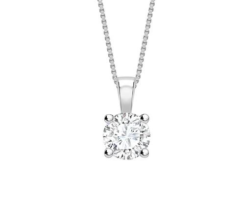 Classic Round diamond 4-claw pendant