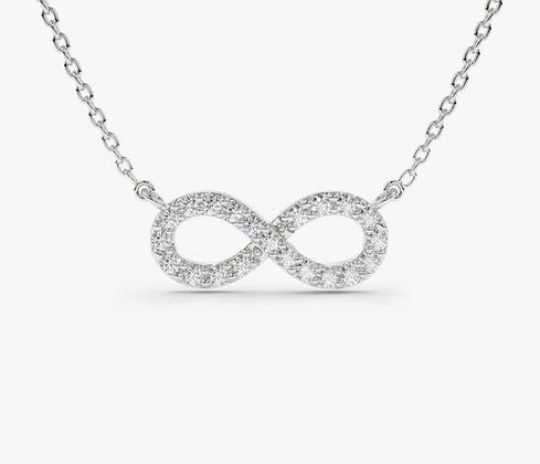 18k gold Infinity Diamond Pendant