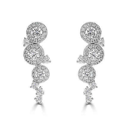 """Dew Drop"" diamond earrings"