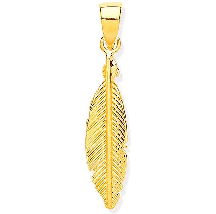 9k Gold Small Leaf pendant