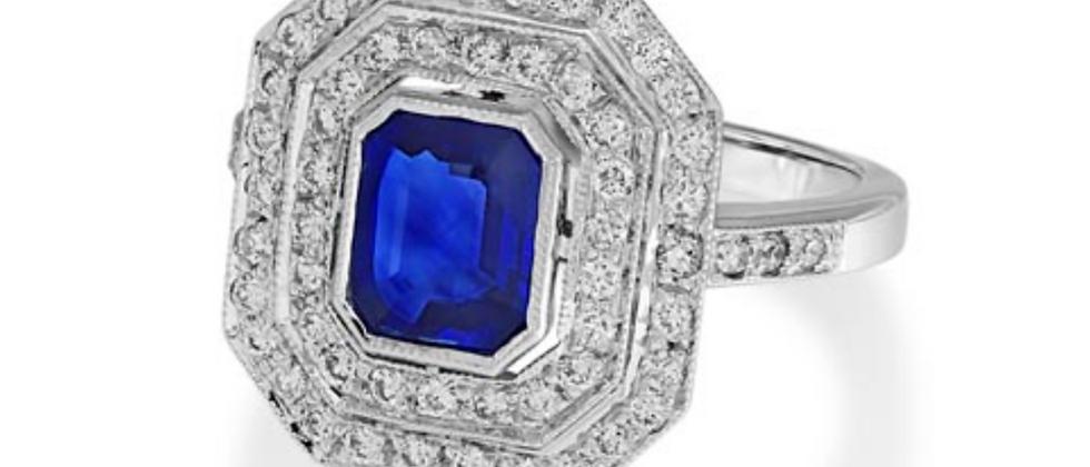 Emerald Cut Sapphire Vintage Ring