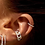 Thumbnail: 8mm Huggies with 0.8mm Diamonds in the Front