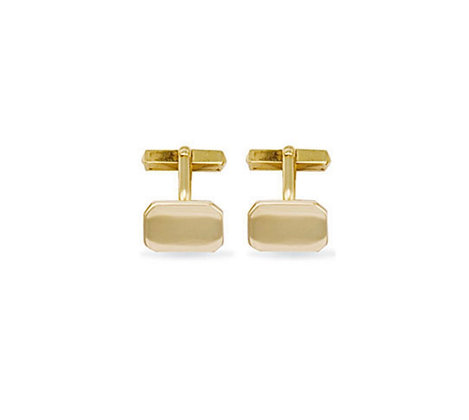 9k solid Gold Rectangle Cufflinks
