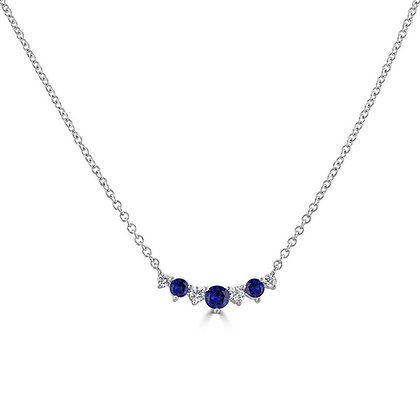 "Sapphire and Diamond ""Tiara"" Necklace"