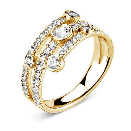 Diamond Rain cluster ring 1.00ct