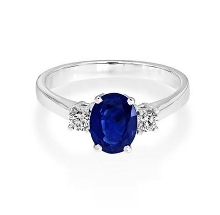 Oval Sapphire Three Stone