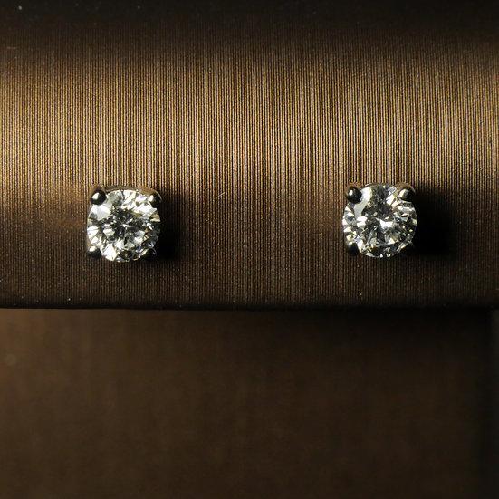 Diamond White Gold Studs