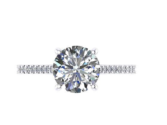 1.70 carat Round Brilliant Engagement ring