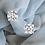 Thumbnail: D/E VS 4-claw Classic Round Brilliant diamond studs upto 2ct